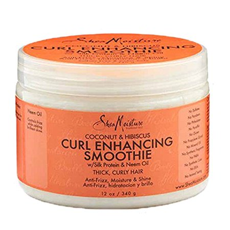 SheaMoisture Coconut & Hibiscus Curl Enhancing Smoothie, 12 (Shea Moisture Organic Curl Enhancing Smoothie Review)