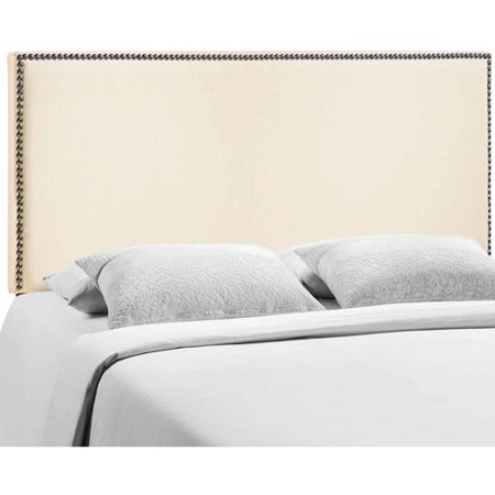 Modway Region Queen Nailhead Upholstered Headboard  Multiple Colors
