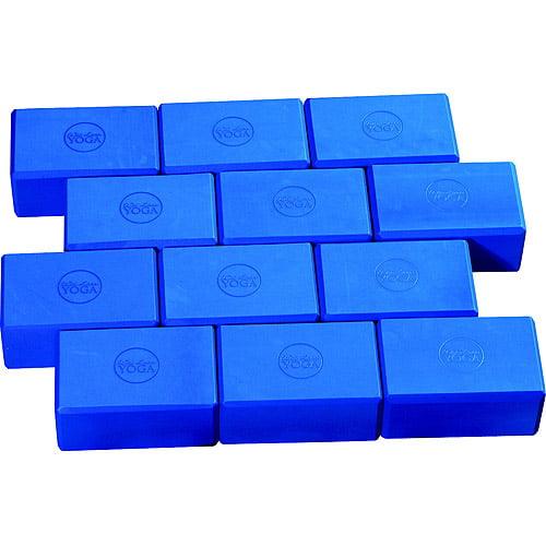 """Wai Lana Yoga Block, 9"""" x 4"""", EVA Foam, Blue"""