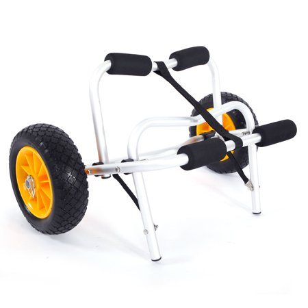 Zimtown Foldable Kayak Dolly Cart Carrier Boat Canoe Trolley Trailer Paddle Board Wheels ()