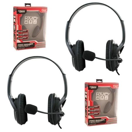 2 Pack Wired Pro Gamer Gaming Headset Headphone With Mic Microphone For Ps4 Ps3 Sony Playstation 3 4 Chat Black