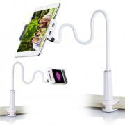 Jeobest 1PC Tablet Holder Stand - Tablet Clip Holder - Phone Tablet Mount Holder - Lightweight 360 Degree Flexible Arm Adjustable Tablet and Cell Phone Stand MZ