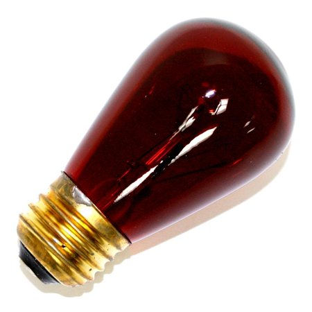 - Halco 09052 - S14RED11T Standard Screw Base Colored Scoreboard Sign Light Bulb
