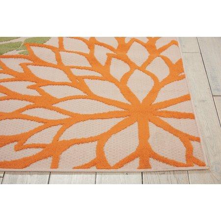 Nourison Aloha Indoor-outdoor Floral Green Area Rug