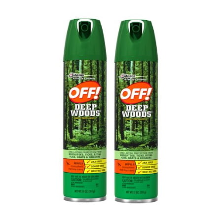 Buzz Off Mosquito ((2 pack) OFF! Deep Woods Insect Repellent V, 11 Ounces )