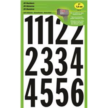 Hy-Ko Products MM-4N Vinyl Mailbox Stickers, Number 0-9,