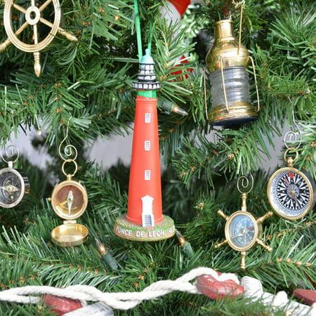 Nautical Christmas Theme.Handcrafted Nautical Decor Ponce De Leon Lighthouse Christmas Tree Ornament
