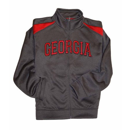 Campus Drive Mens Athletic Full Zip Track Jacket (Georgia, Small) ()