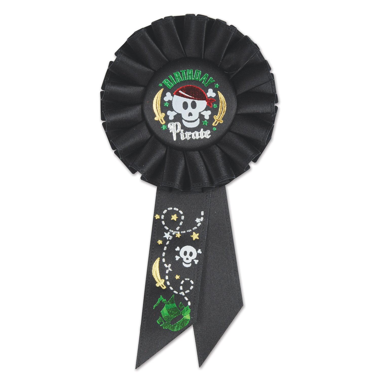 Birthday Pirate Rosette (Pack of 6)