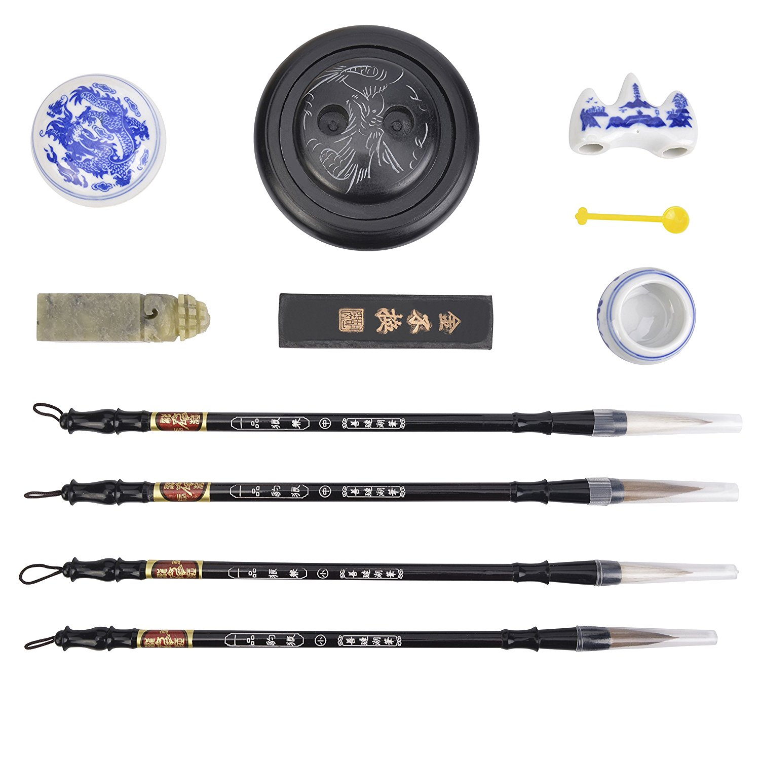Calligraphy Sumi Brush Artecho Chinese Water-writing Calligraphy Gift Set Chinese Brushes Rewritable Set 10 Pcs for Beginners