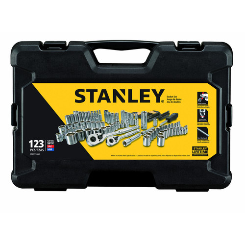 STANLEY 123-Piece Mechanics Tool Set, Chrome | STMT71652