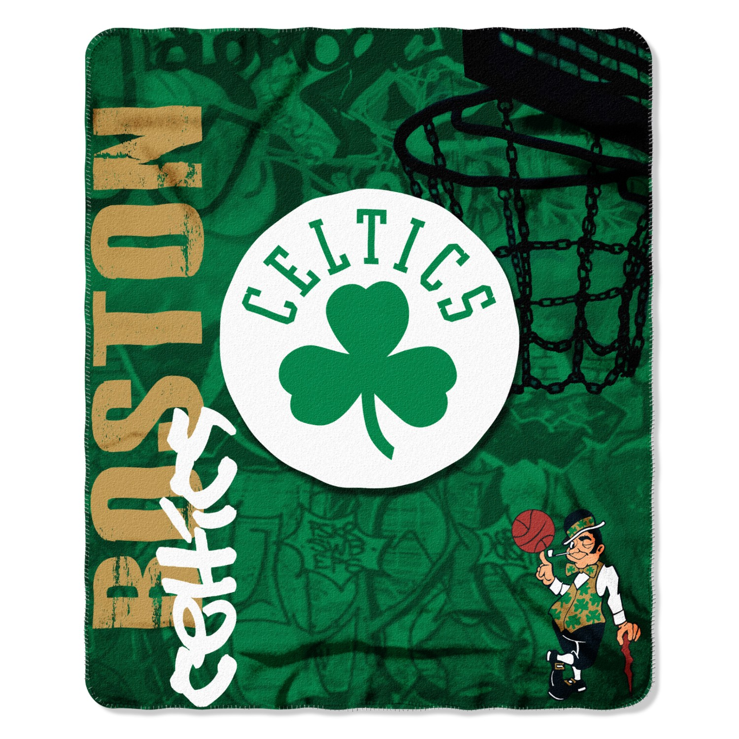Boston Celtics Fade Away Fleece Throw