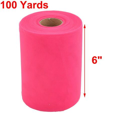 Feast Polyester Tutu Notebook Decor Tulle Spool Roll Fuchsia 6 Inch x 100 Yards - image 3 de 4