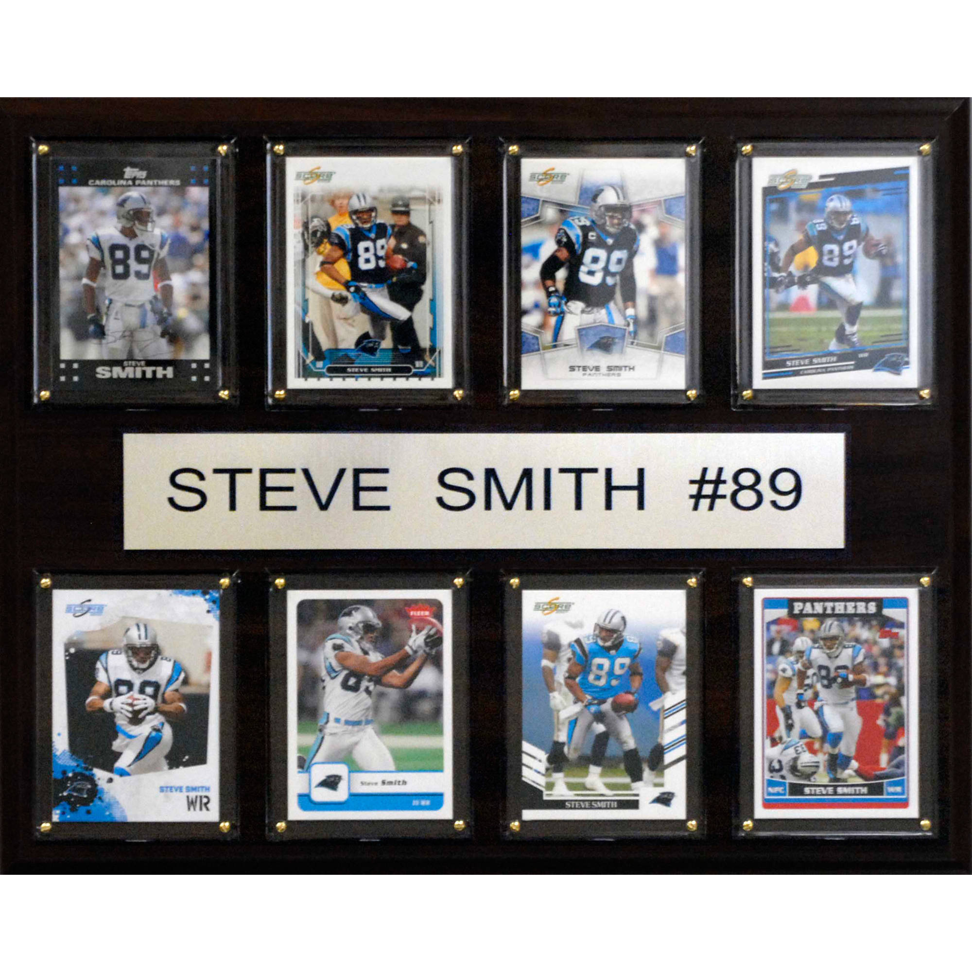 C&I Collectables NFL 12x15 Steve Smith Carolina Panthers 8-Card Plaque