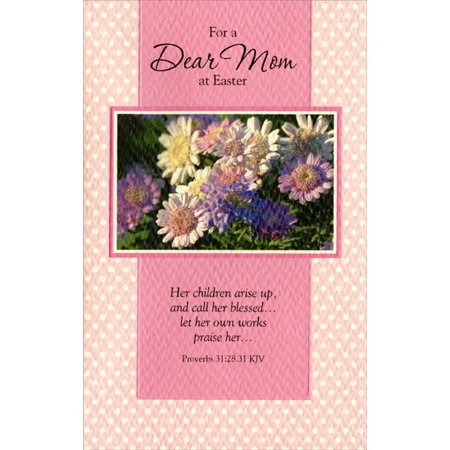 Freedom Greetings Glitter Daisies on Polka Dots: Mom Easter Card