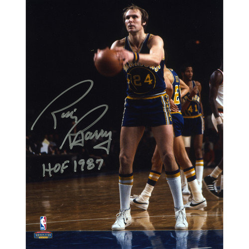 Mounted Memories Rick Barry Golden State Warriors Autographed Photograph with ''HOF 1987'' Inscription