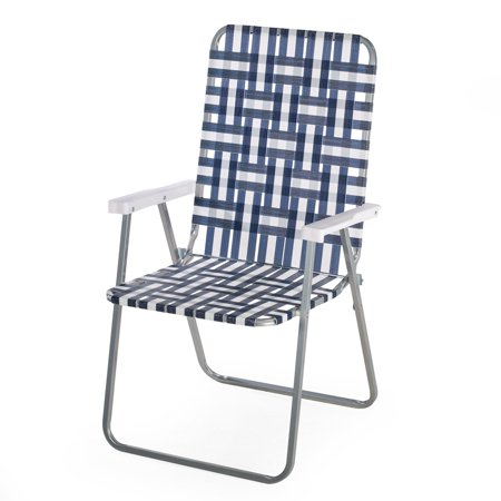 Coral Coast Classic Woven Folding Lawn Chair