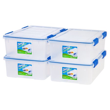 Ziploc 26 5 Qt 6 6 Gal Weathershield Storage Box Clear