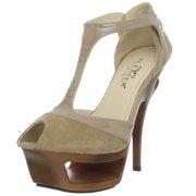 "Pleaser Day & Night Deluxe-682 5 1/2"" Heel 1 3/4"" Platform T Strap Women Sandal"