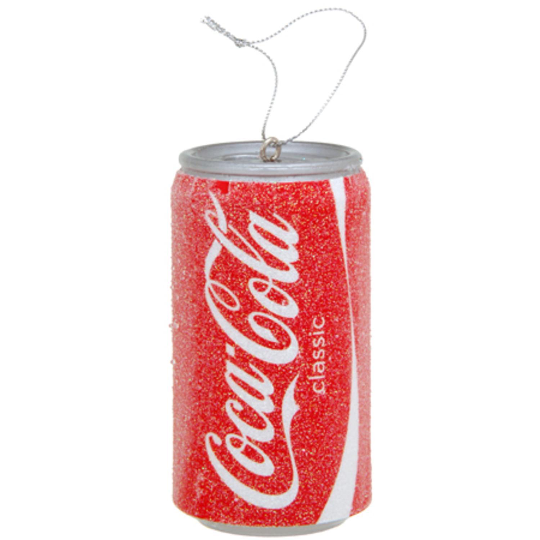 Kurt Adler Coca Cola Coke Can Christmas Tree Ornament Blow Molded Plastic