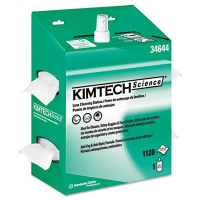 Kimwipes Lens Cleaning, 16oz Spray, 4 2/5 X 8 1/2, 1120 Wipes/box, 4/carton