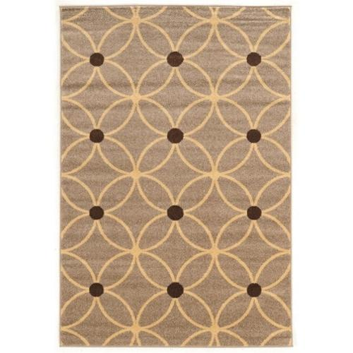 Linon Claremont 2' x 3' Rugs in Beige and Brown