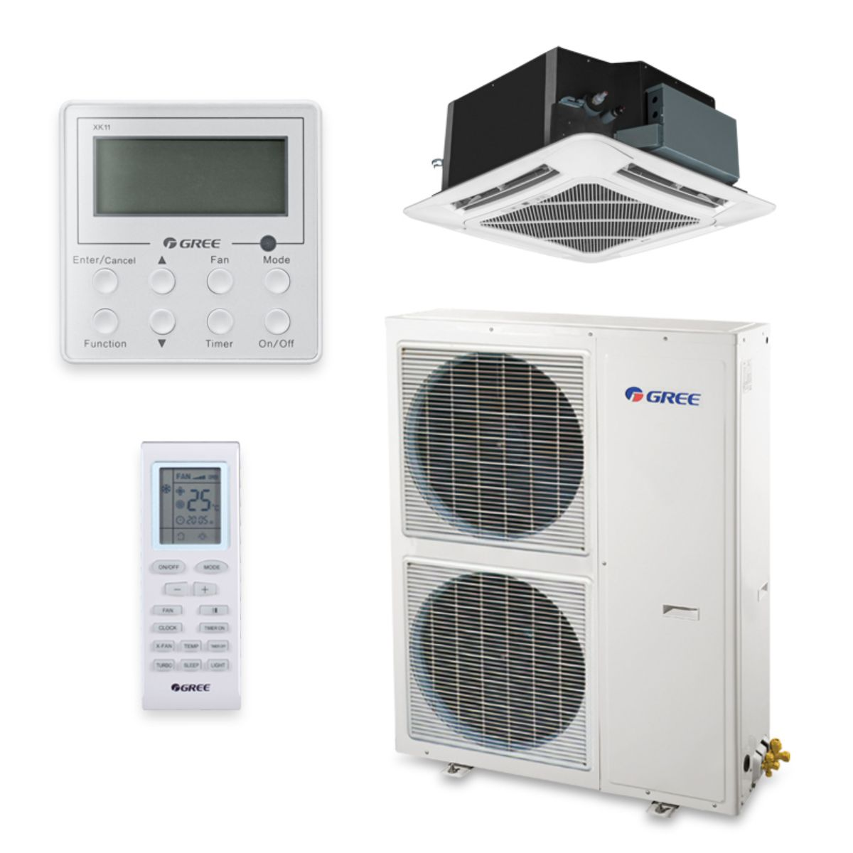 Gree UMAT42HP230V1AC-S - 42,000 BTU 16 SEER Ceiling Cassette Ductless Mini Split Air Conditioner Heat Pump 208-230V
