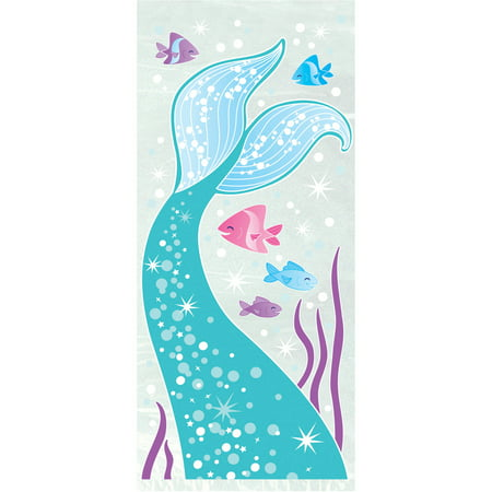 Cellophane Mermaid Party Bags, Clear, 20ct - Mermaids Party Supplies