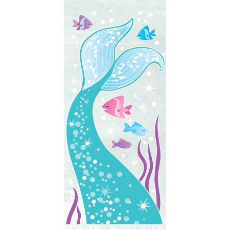 Cellophane Mermaid Party Bags, Clear, 20ct
