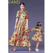 US STOCK Family Mother and Daughter Matching Girls Outfits Clothes Boho Dresses