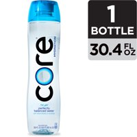 CORE Hydration, Nutrient Enhanced Water, Perfect 7.4 Natural pH, Ultra-Purified With Electrolytes and Minerals, Cup Cap For Sharing, 30.4 Fl Oz