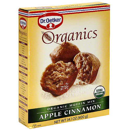 Dr. Oetker Organic Apple Cinnamon Muffin Mix, 14.1 oz (Pack of 12)