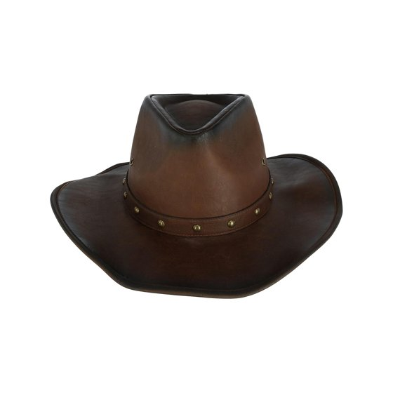 Kenny K - Men s Distressed Western Hat with Brass Studs and Burnished  Edges 54983679b1f