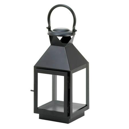 Iron Candle Lantern, Metal Glass Rustic Decorative Black Candle Lantern Holder (Lantern Candle Holder)