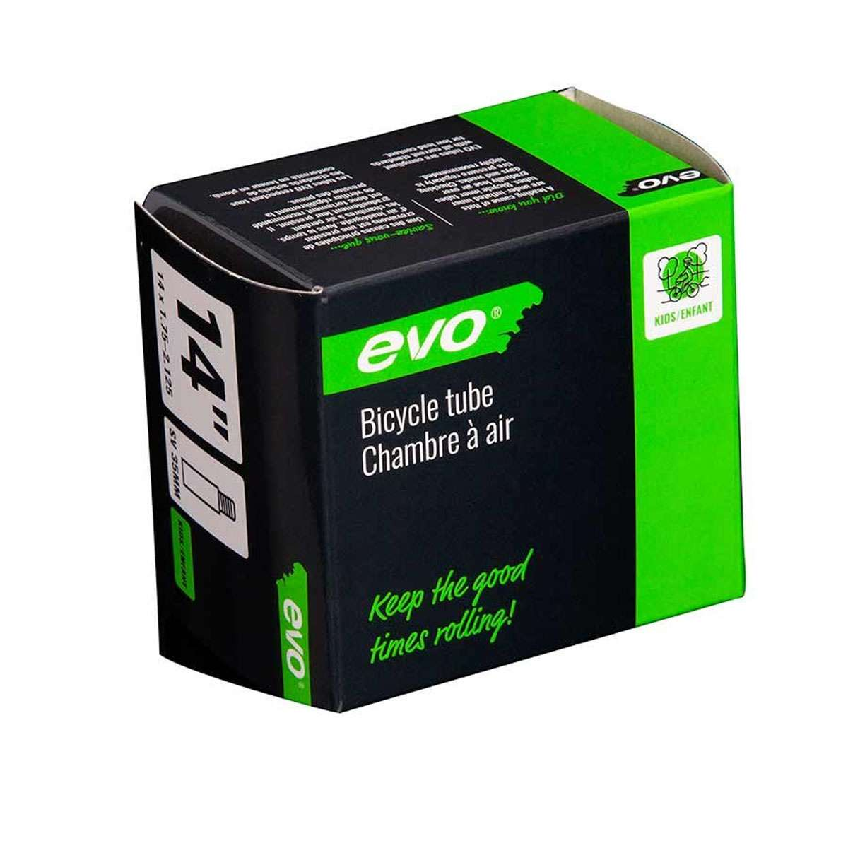 Evo Bicycle Tube - Schrader, 35mm, 14', 1.75-2.125 - 14EV.020176-03