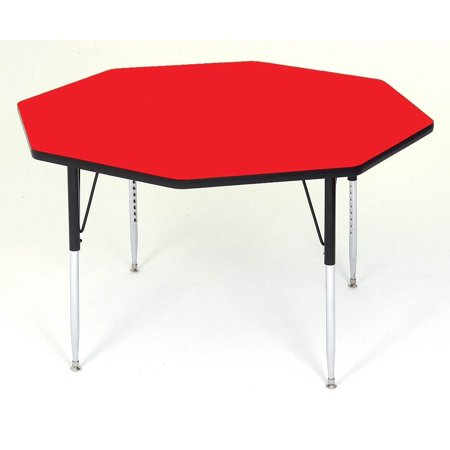 Correll Octagonal Shape High Pressure Activity Table Short Red