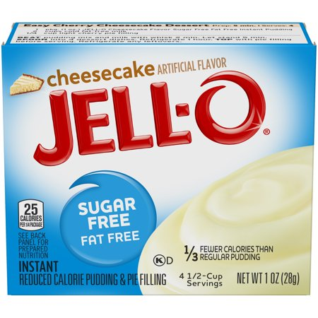 (4 Pack) Jell-O Instant Sugar-Free Cheesecake Pudding & Pie Filling, 1 oz (Jam Filling)