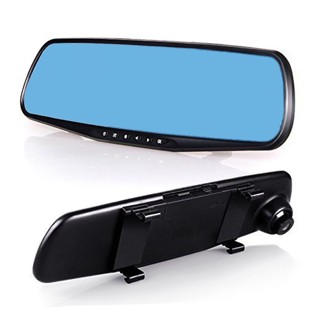 "1080P Car DVR Rearview Mirror Camera Video Recorder G-sensor 2.8"" LED"
