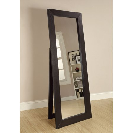 - Full Length Standing Floor Mirror, Dark Cappuccino Finish, 28