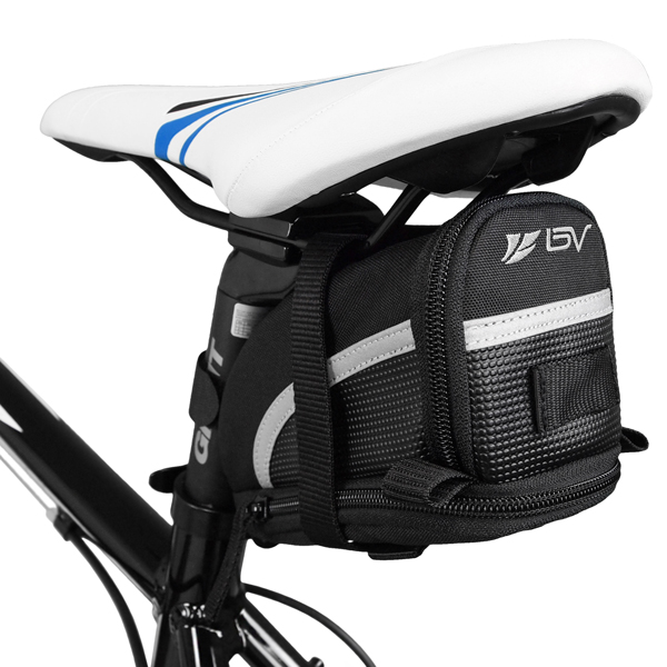 BV Bicycle Strap-On Saddle Bag / Seat Bag - Medium