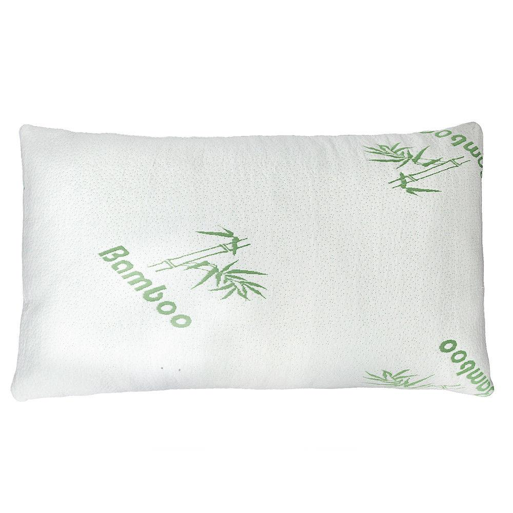 Premium Firm Hypoallergenic Bamboo Fiber 45D Memory Foam Pillow Bed King Size US