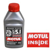 Motul 100951 DOT 5.1 Non-Silicone Brake Fluid with Motul Sticker