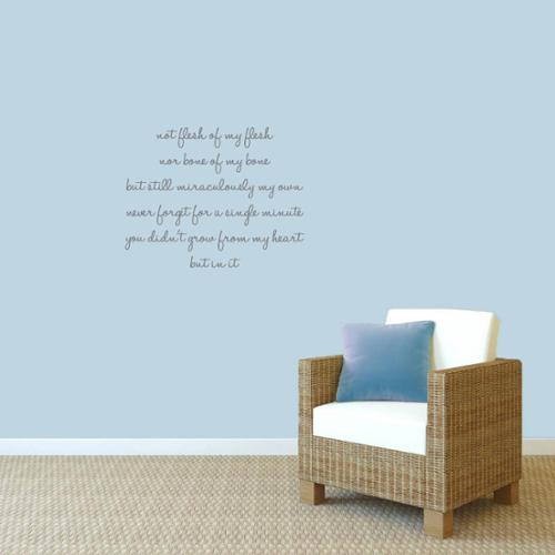 Sweetums Adoption Creed' 28 x 22-inch Wall Decals