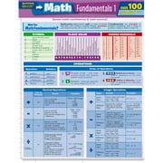 BarCharts 9781423217374 Math Fundamentals 1 Quizzer Quickstudy Easel