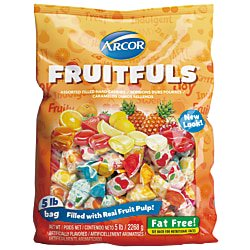 Arcor Assorted Candies, Fruit Filled, 5-Lb Bag Haribo 5 Lb Bag