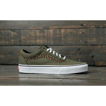 Vans Old Skool Mini Leopard Army Green Women's Skate Shoes Size 7
