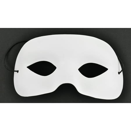 Club Pack of 12 White and Black Half Masks](White Mask For Sale)