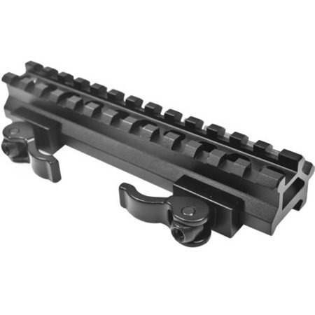 Leapers UTG LE Rated Double Rail 13 Slot Angle Mount with Integral QD Lever (Ak 47 Tactical Quad Rail Leapers Utg Pro)