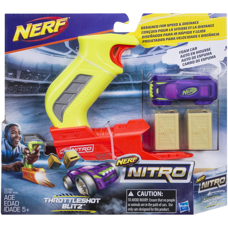 Nerf Nitro ThrottleShot Blitz (Green Blaster) by Hasbro