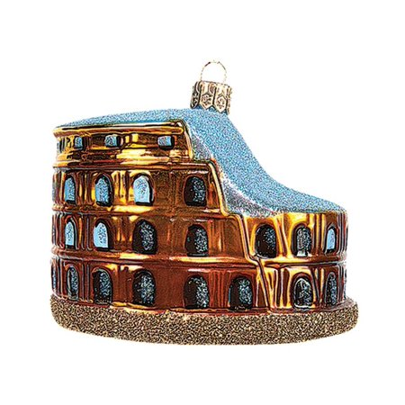 Colosseum of Rome Italy Polish Blown Glass Christmas Ornament Tree Decoration ()